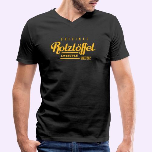 Rotz-L - Männer Bio-T-Shirt mit V-Ausschnitt von Stanley & Stella