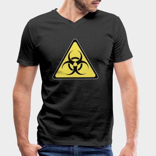 SEÑAL BIOHAZARD - Camiseta ecológica hombre con cuello de pico de Stanley & Stella