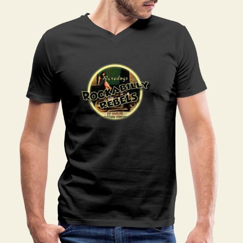 rockabilly rebels pinup - Økologisk Stanley & Stella T-shirt med V-udskæring til herrer
