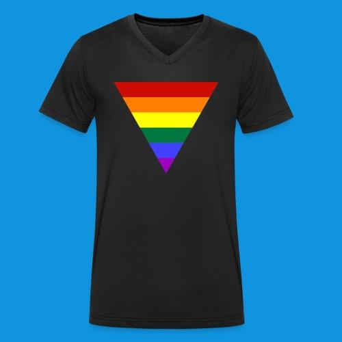 Pride Triangle pocket tank - Men's Organic V-Neck T-Shirt by Stanley & Stella