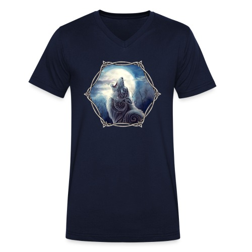 Freki - Männer Bio-T-Shirt mit V-Ausschnitt von Stanley & Stella