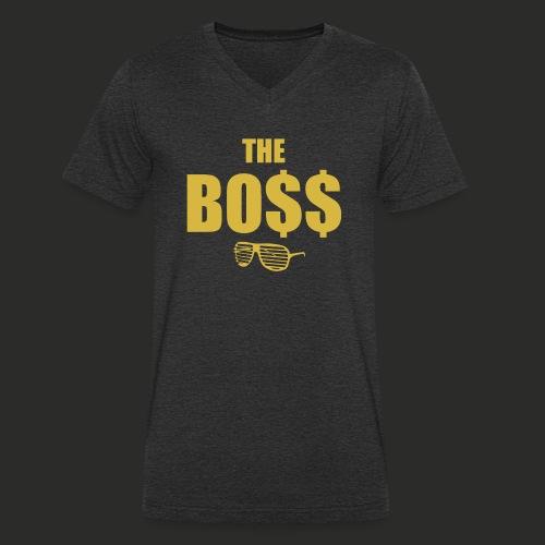 The Bo$$ Mens T-Shirt - Men's Organic V-Neck T-Shirt by Stanley & Stella