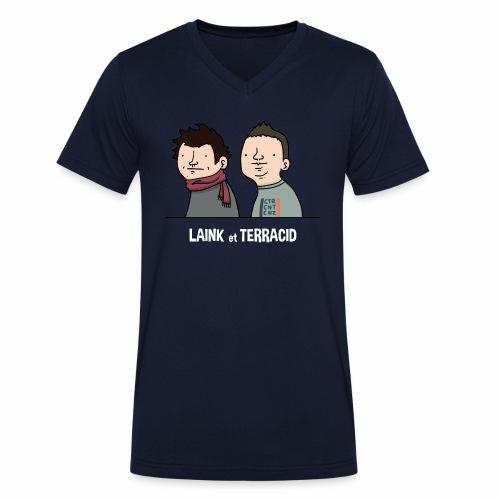 Laink et Terracid old - T-shirt bio col V Stanley & Stella Homme