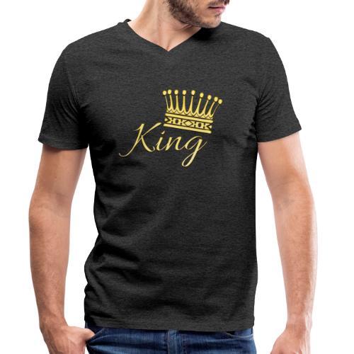 King Or by T-shirt chic et choc - T-shirt bio col V Stanley & Stella Homme