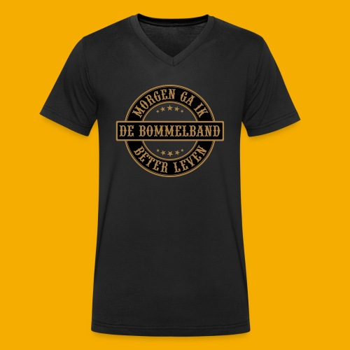 bb logo rond shirt - Mannen bio T-shirt met V-hals van Stanley & Stella