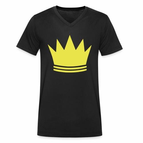 Goldene Krone - Männer Bio-T-Shirt mit V-Ausschnitt von Stanley & Stella