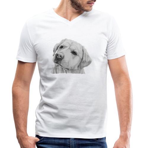 labrador retriever yellow - head - Økologisk Stanley & Stella T-shirt med V-udskæring til herrer