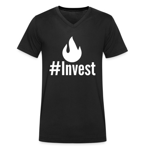 #Invest Premium Langarm - Men's Organic V-Neck T-Shirt by Stanley & Stella