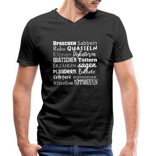 Sprechwörter weiss - Männer Bio-T-Shirt mit V-Ausschnitt von Stanley & Stella