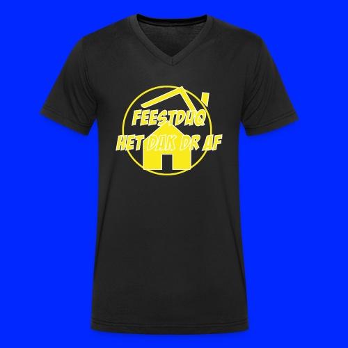 Geel Logo - Mannen bio T-shirt met V-hals van Stanley & Stella