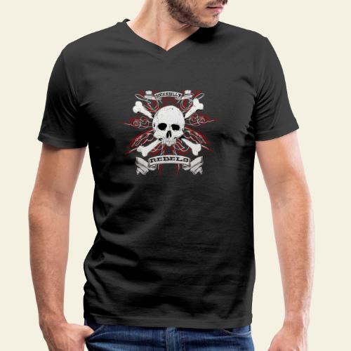 skull - Økologisk Stanley & Stella T-shirt med V-udskæring til herrer