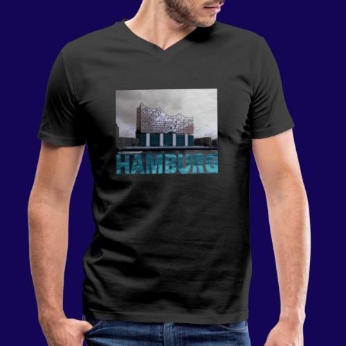 Elbphilharmonie | HAMBURG-Typo| Künstlermotiv - Männer Bio-T-Shirt mit V-Ausschnitt von Stanley & Stella