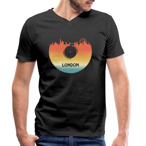 London Skyline Vinyl Schallplatte London Souvenir - Männer Bio-T-Shirt mit V-Ausschnitt von Stanley & Stella