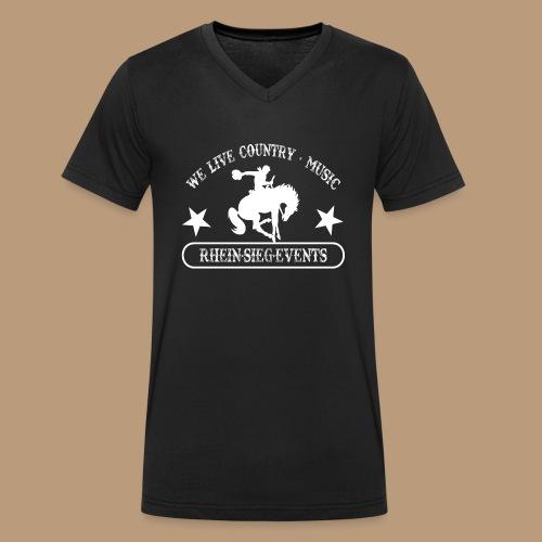 2We_live_Country_Music.png - Männer Bio-T-Shirt mit V-Ausschnitt von Stanley & Stella
