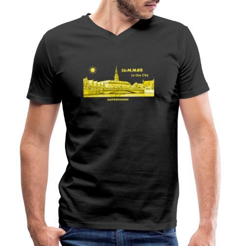 Summer Kopenhagen Dänemark City Rathaus Summer - Männer Bio-T-Shirt mit V-Ausschnitt von Stanley & Stella