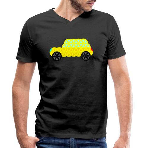 The Car Of Life - 02, Sacred Shapes, Yellow. - Men's Organic V-Neck T-Shirt by Stanley & Stella