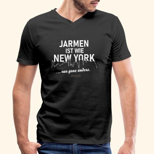 Jarmen 😁 ist wie New York ... nur ganz anders - Männer Bio-T-Shirt mit V-Ausschnitt von Stanley & Stella