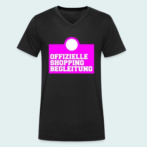 Offizielle Shopping Begleitung Damenshirt - Männer Bio-T-Shirt mit V-Ausschnitt von Stanley & Stella