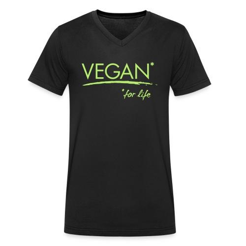 vegan for life 1c - Männer Bio-T-Shirt mit V-Ausschnitt von Stanley & Stella
