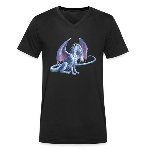 Eisdrache - Männer Bio-T-Shirt mit V-Ausschnitt von Stanley & Stella