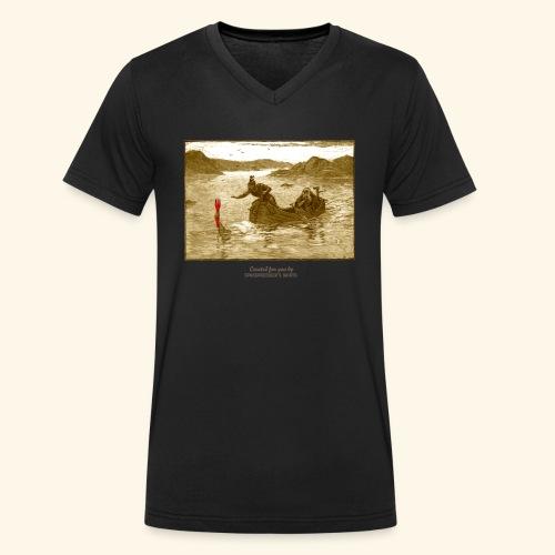 Geek T Shirt Excalibur 2.0 - Männer Bio-T-Shirt mit V-Ausschnitt von Stanley & Stella