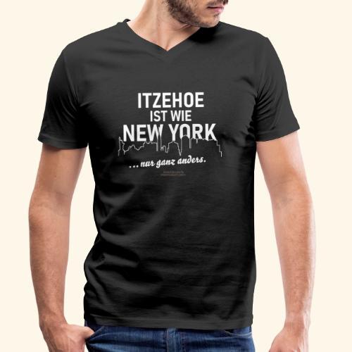 Itzehoe 👍 ist wie New York Spruch 😁 - Männer Bio-T-Shirt mit V-Ausschnitt von Stanley & Stella