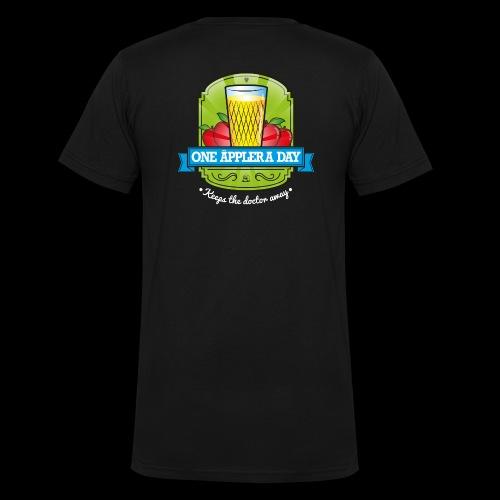 One Äppler a day Kapuzenjacke - Männer Bio-T-Shirt mit V-Ausschnitt von Stanley & Stella