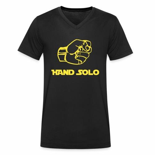 hand solo png - T-shirt ecologica da uomo con scollo a V di Stanley & Stella