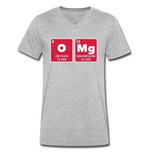 periodic table omg oxygen magnesium Oh mein Gott - Men's Organic V-Neck T-Shirt by Stanley & Stella