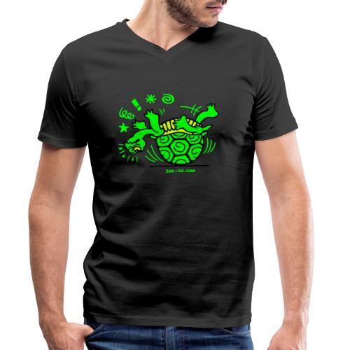 Unlucky Turtle - Men's Organic V-Neck T-Shirt by Stanley & Stella