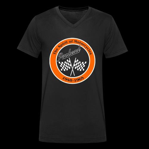 Zielflagge Panhead - Männer Bio-T-Shirt mit V-Ausschnitt von Stanley & Stella