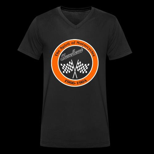 Zielflagge Shovelheat - Männer Bio-T-Shirt mit V-Ausschnitt von Stanley & Stella