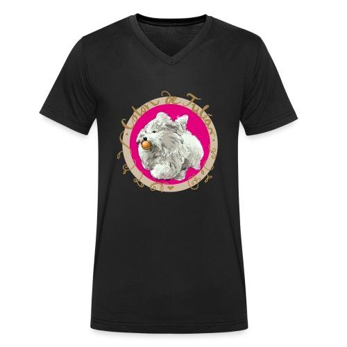 Coton Action - Männer Bio-T-Shirt mit V-Ausschnitt von Stanley & Stella