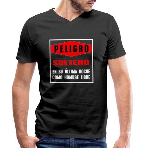 Peligro soltero - Camiseta ecológica hombre con cuello de pico de Stanley & Stella