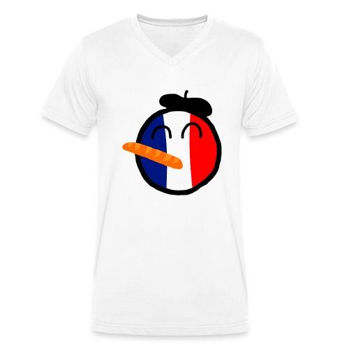 Franceball - Men's Organic V-Neck T-Shirt by Stanley & Stella