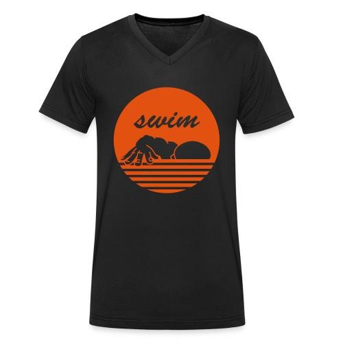 swim! Schwimmer Kraulen - Männer Bio-T-Shirt mit V-Ausschnitt von Stanley & Stella