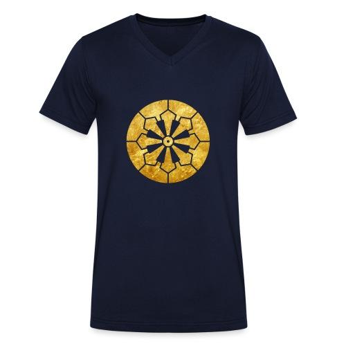 Sanja Matsuri Komagata mon gold - Men's Organic V-Neck T-Shirt by Stanley & Stella