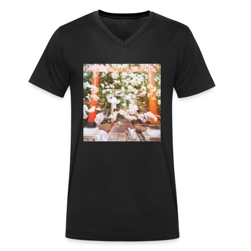 見ぬが花 Imagination is more beautiful than vi - Men's Organic V-Neck T-Shirt by Stanley & Stella