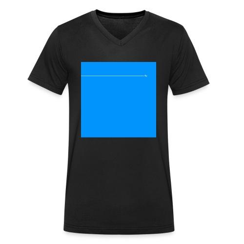 sklyline blue version - T-shirt bio col V Stanley & Stella Homme