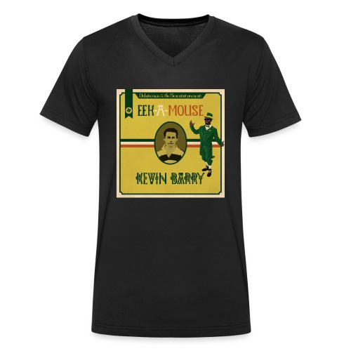 Eek a Mouse Kevin Barry - Men's Organic V-Neck T-Shirt by Stanley & Stella
