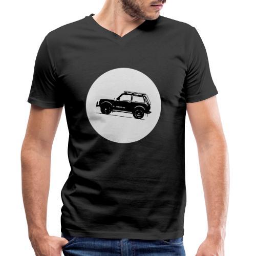 Lada Niva Kreis - Männer Bio-T-Shirt mit V-Ausschnitt von Stanley & Stella