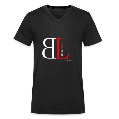 BrillLips - Männer Bio-T-Shirt mit V-Ausschnitt von Stanley & Stella