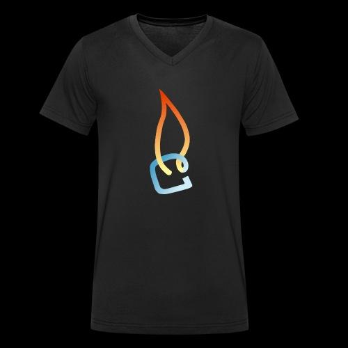 Eisheiss Bandlogo - Männer Bio-T-Shirt mit V-Ausschnitt von Stanley & Stella