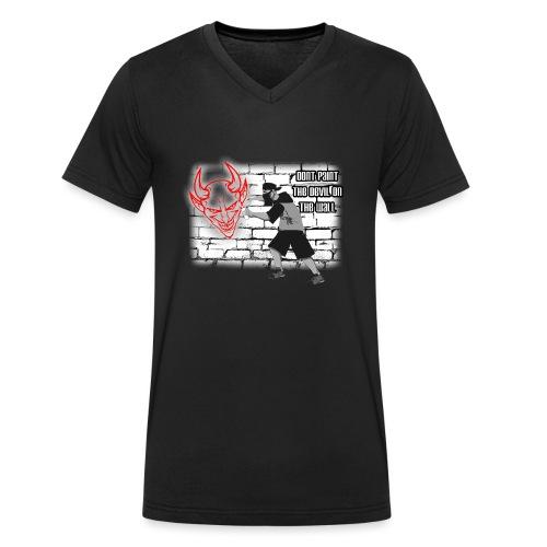 Sprayer Dont paint Devil - Männer Bio-T-Shirt mit V-Ausschnitt von Stanley & Stella