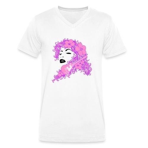 Lady Flo - T-shirt ecologica da uomo con scollo a V di Stanley & Stella