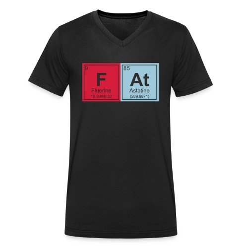 Geeky Fat Periodic Elements - Men's Organic V-Neck T-Shirt by Stanley & Stella