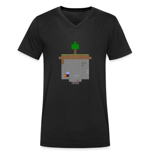 Minecraft World Querschnitt - Männer Bio-T-Shirt mit V-Ausschnitt von Stanley & Stella