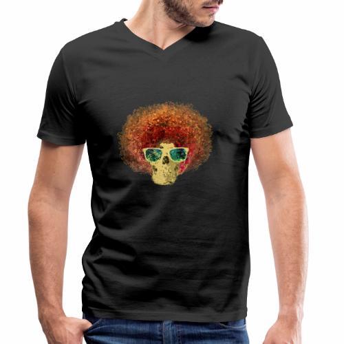 Freaky Skull Vintage - Mannen bio T-shirt met V-hals van Stanley & Stella