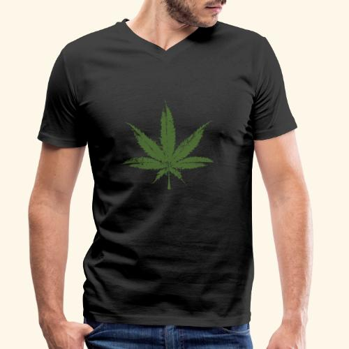 Weed leave 20x20 - T-shirt bio col V Stanley & Stella Homme