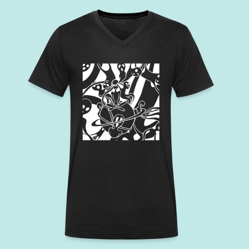 Personnage cauchemar fantômes esprits blanc - T-shirt bio col V Stanley & Stella Homme